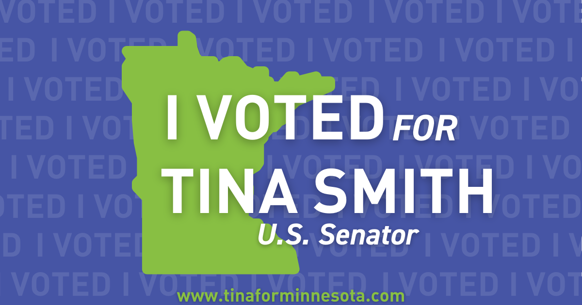 I voted for Tina Smith graphic